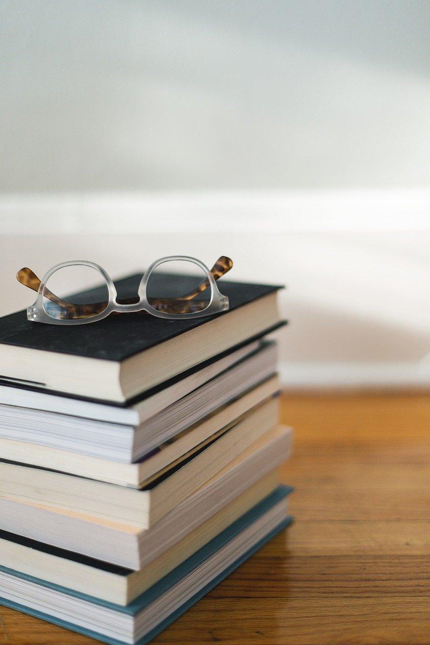 books, reading, glasses